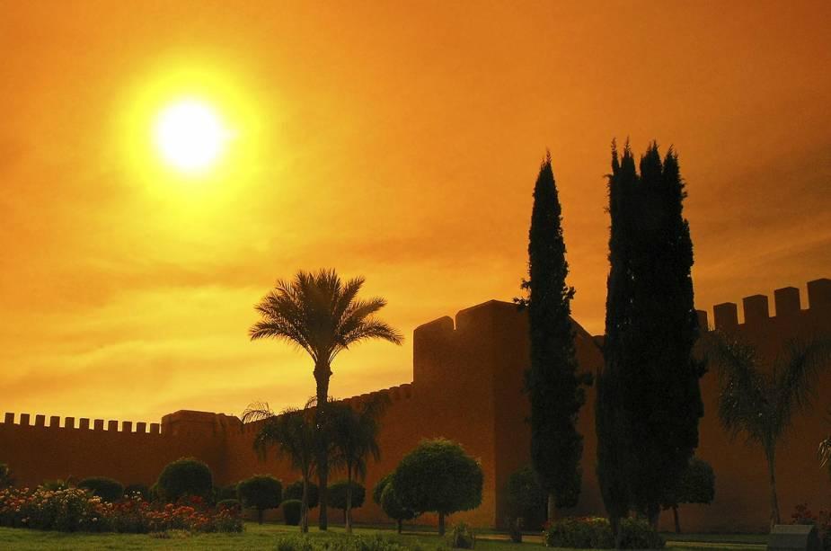 Ruínas do Palácio El Badi em Marrakech