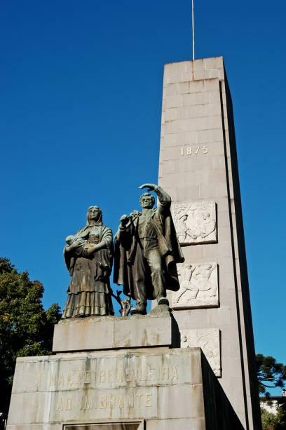 Monumento Nacional do Imigrante, construído em 1954