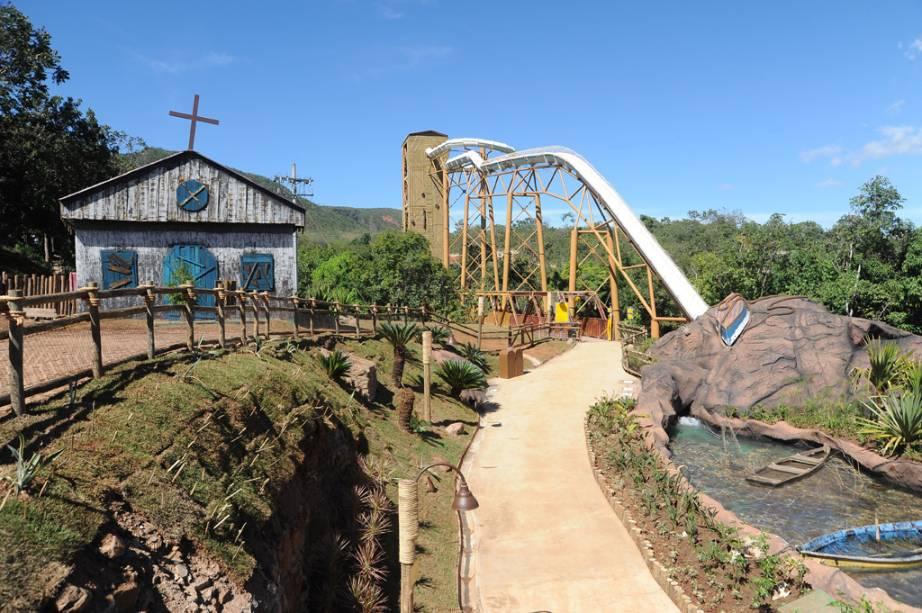 Xpirado, atração do Hot Park, no complexo Rio Quente Resorts, em Rio Quente, Goiás