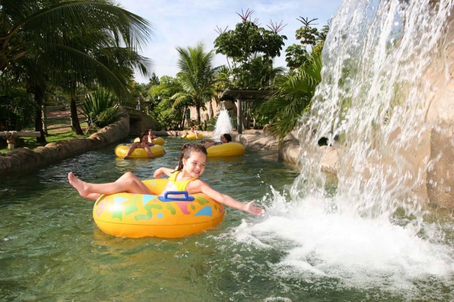 Rio Quente, atração Hot Park, no complexo Rio Quente Resorts, em Rio Quente, Goiás