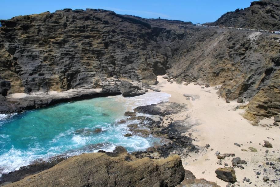 O pequeno trecho da costa de Halona Cove atrai turistas e moradores locais com sua vibração marinha calma e serena e é ideal para mergulho com snorkel.  O complexo de acessos, que consiste principalmente em escalada, é contrabalançado por uma vista privilegiada