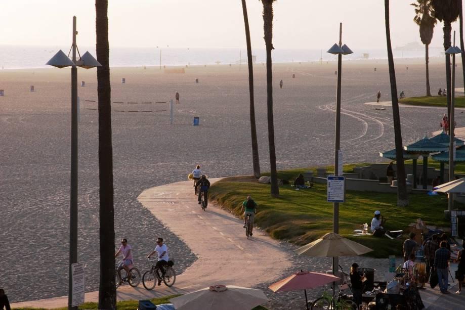 Sempre parece verão em Venice Beach