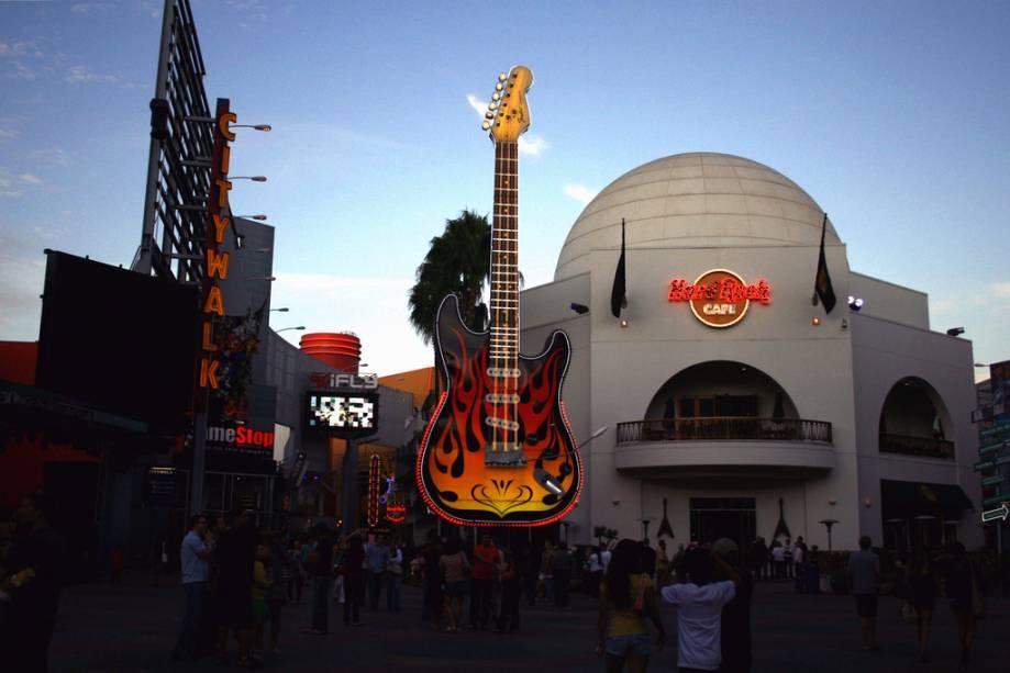 Hard Rock, não Universal Studios em Hollywood