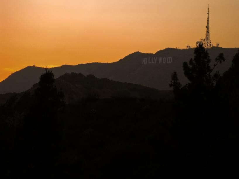 Hollywood Hills, com a imagem clássica do personagem