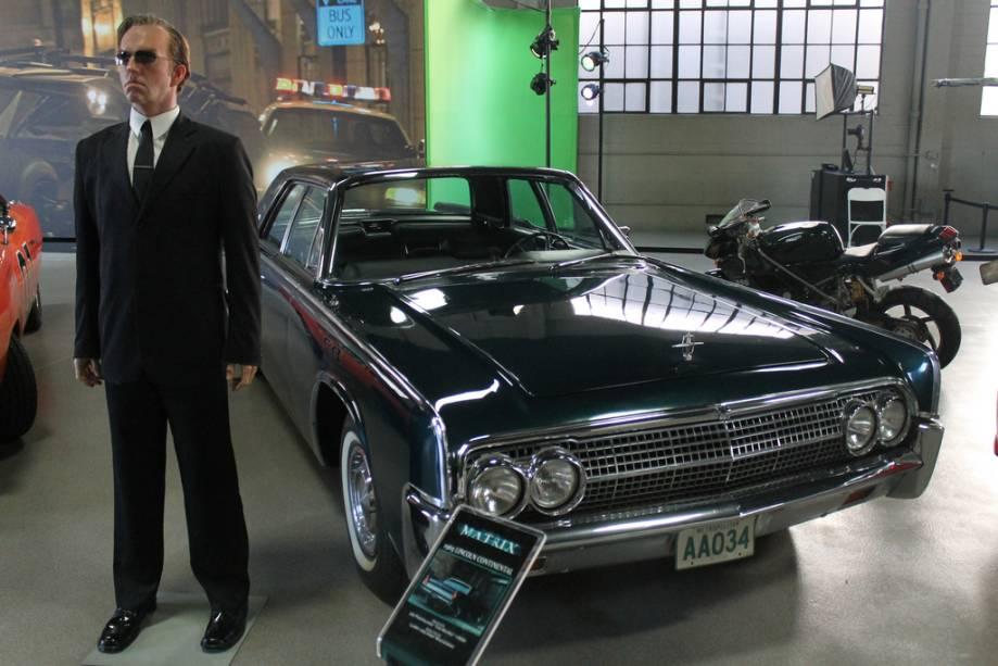 Matrix Agent Smith pode ser visto no Warner Studios em Burbank