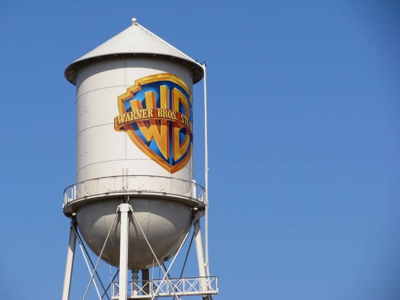 O lendário tanque de água do estúdio Warner Bros. em Burbank, um subúrbio de Los Angeles