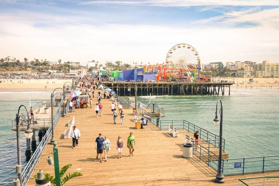 O Pacific Amusement Park está localizado no cais de Santa Monica