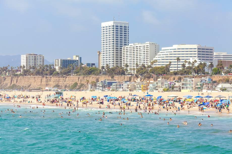 Santa Monica é um lugar muito popular no verão