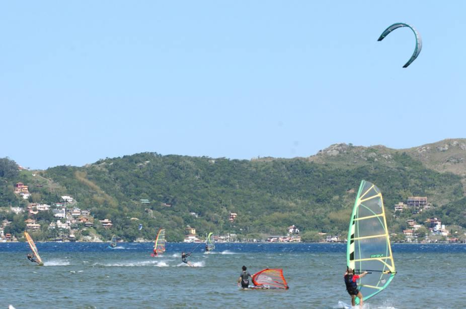 Windsurf e kitesurf na Lagoa da Conceição