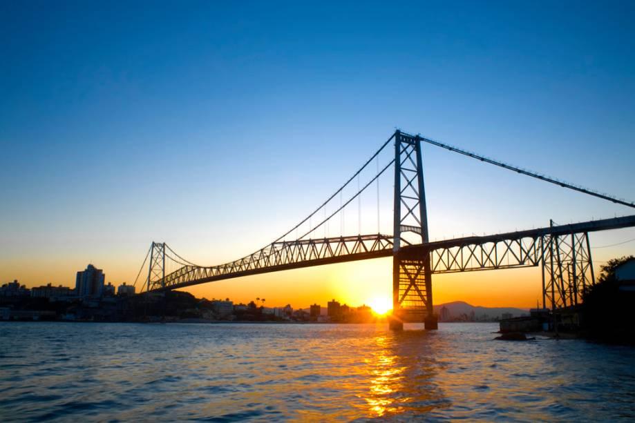 Ponte Hercílio Luz, em Florianópolis, Santa Catarina