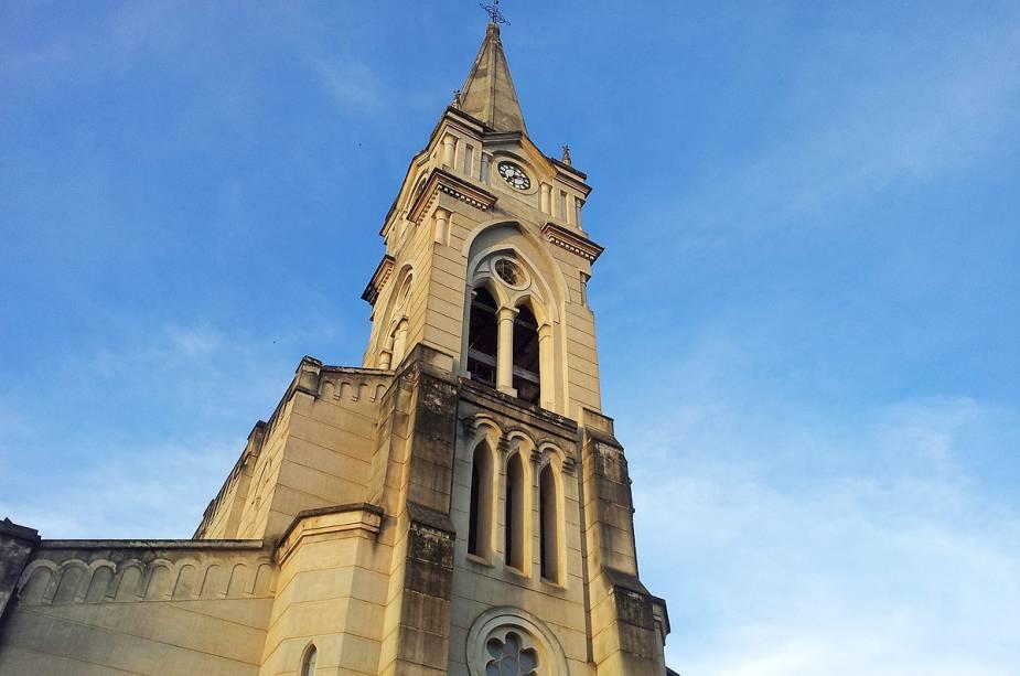 A Igreja do Rosário é a única da cidade construída em estilo gótico