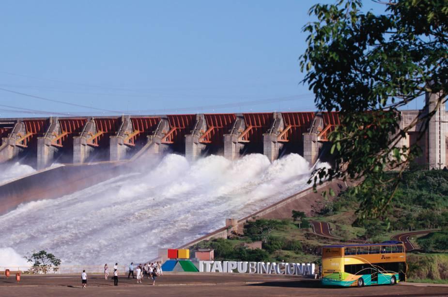 Usina Hidrelétrica de Itaipu em Foz do Iguaçu, Paraná