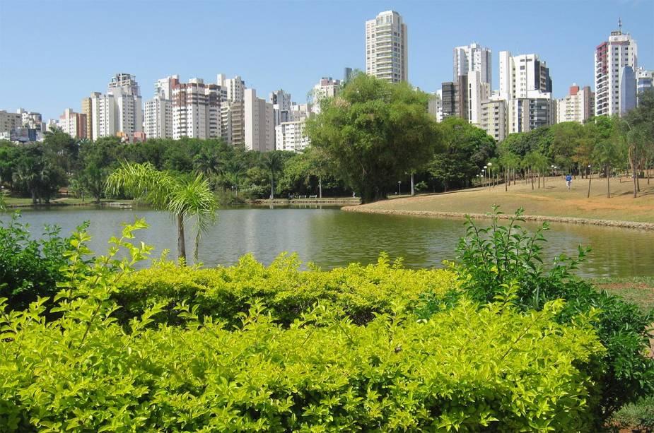 Detalhe do parque Vaca Brava, um dos mais famosos da cidade, no Setor Bueno