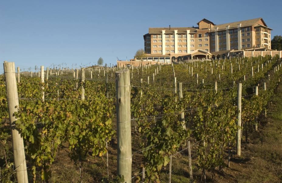 Fachada do Villa Europa Hotel & Spa no Vinho Caudalie Vinoterapia no Vale dos Vinhedos em Bento Gonçalves