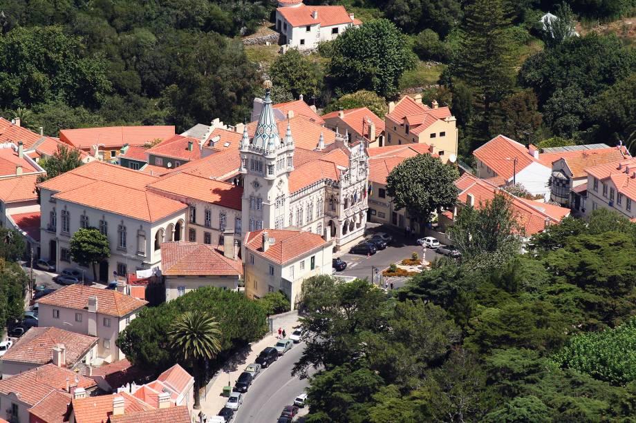 Vista do centro de Sintra