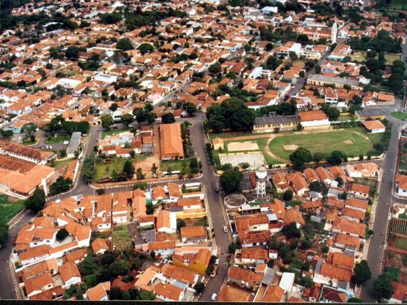 Vista aérea da cidade de Brotas (SP)