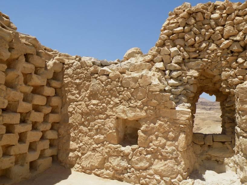 Ruínas do Forte Massada no Mar Morto