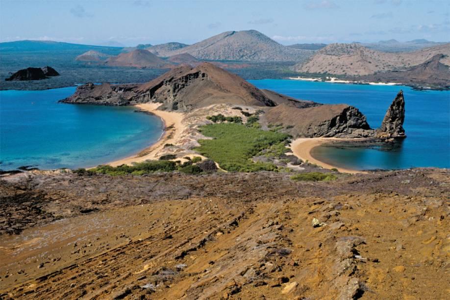 Ilha Bartolomeu de origem vulcânica, uma das muitas do arquipélago de Galápagos