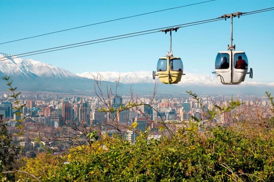 Cerro San Cristóbal de Santiago combina uma das melhores vistas da capital chilena