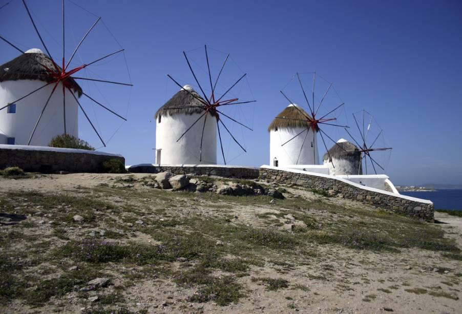 Moinhos de vento de Mikonos
