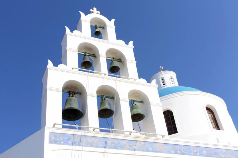 Sinais da igreja em Mykonos