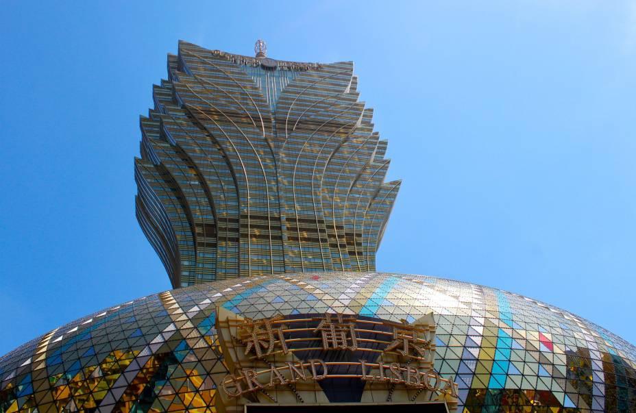 Com a sua arquitetura invulgar, o Casino Gran Lisboa é um dos ícones da cidade.