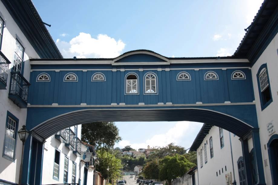 O Passadiço da Glória é uma passagem pitoresca que liga duas das históricas casas geminadas de Diamantina