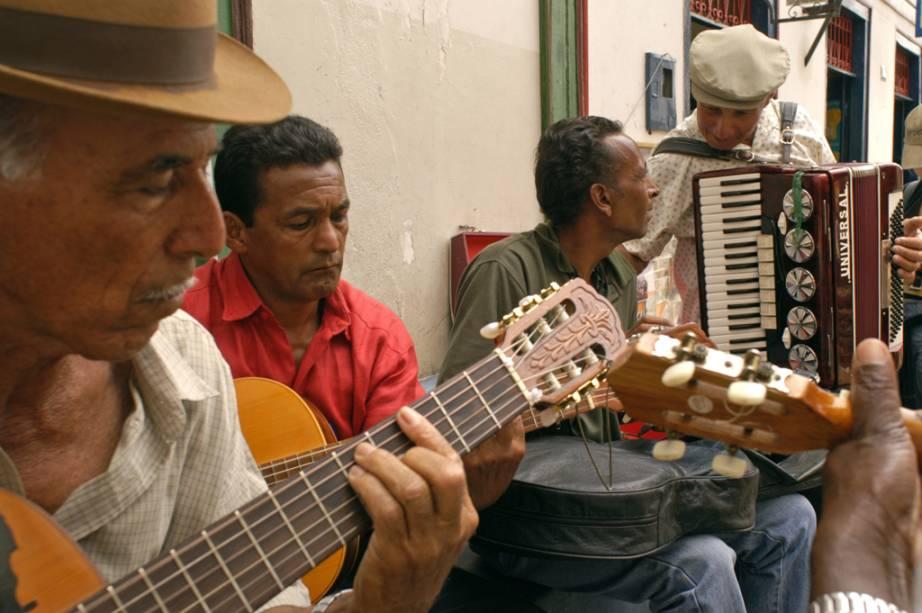 Os músicos tocam Diamantina