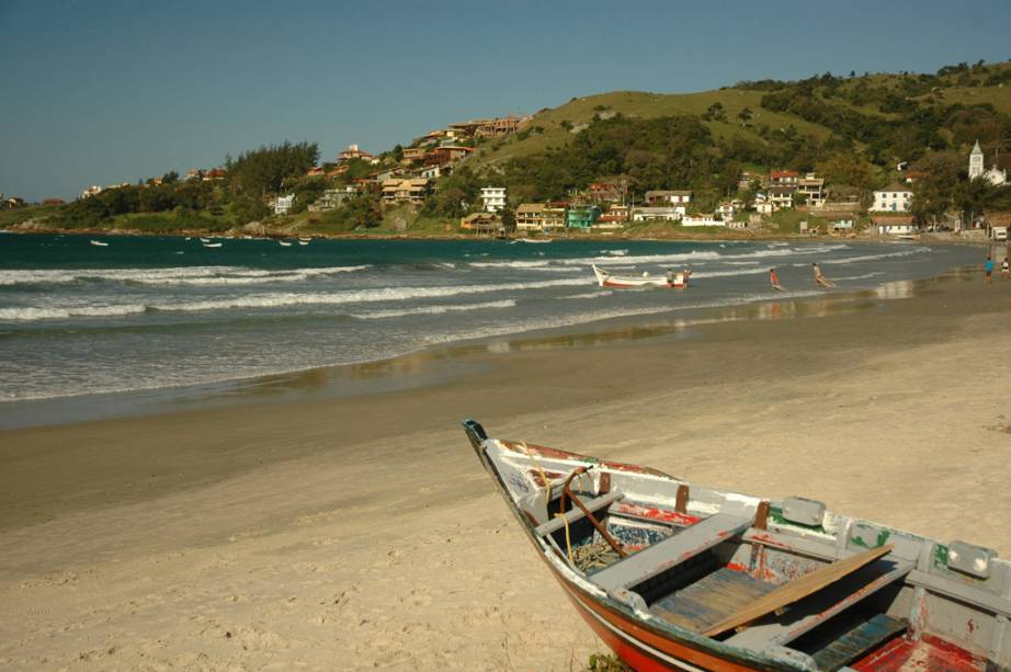 Praia de Garopaba, no centro comercial da cidade
