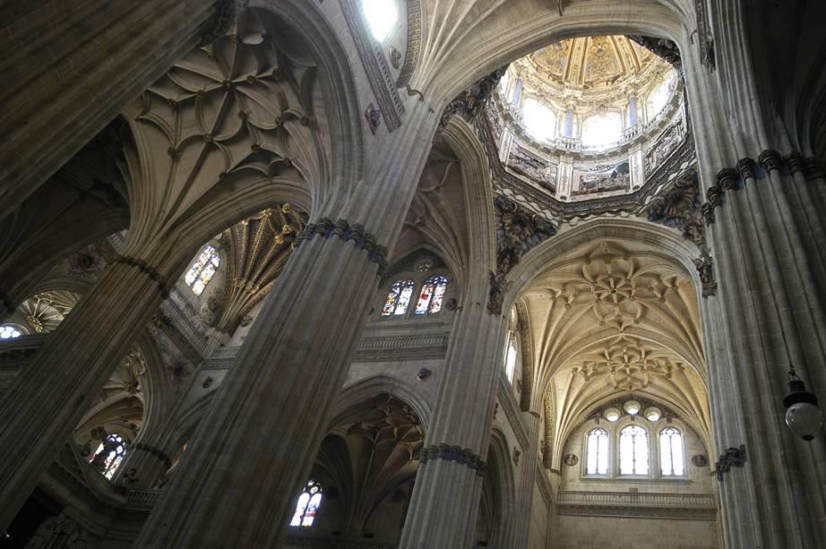 A cúpula da imponente Catedral Nova de Salamanca tem 80 metros de altura