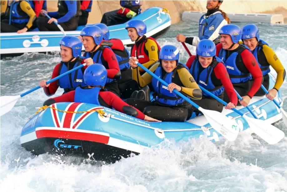 Rafting no Lee Valley White Water Center