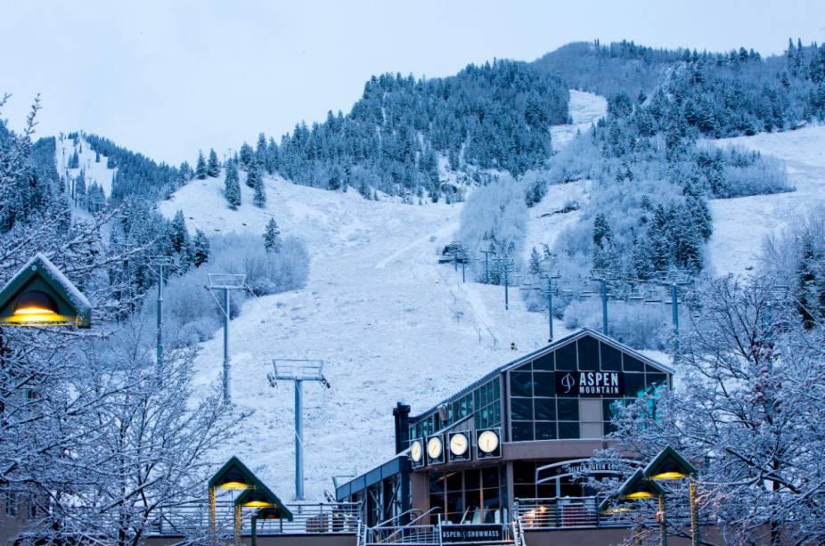 Aspen-Snowmass Resort hospeda inúmeras corridas de esqui na área durante a temporada de inverno