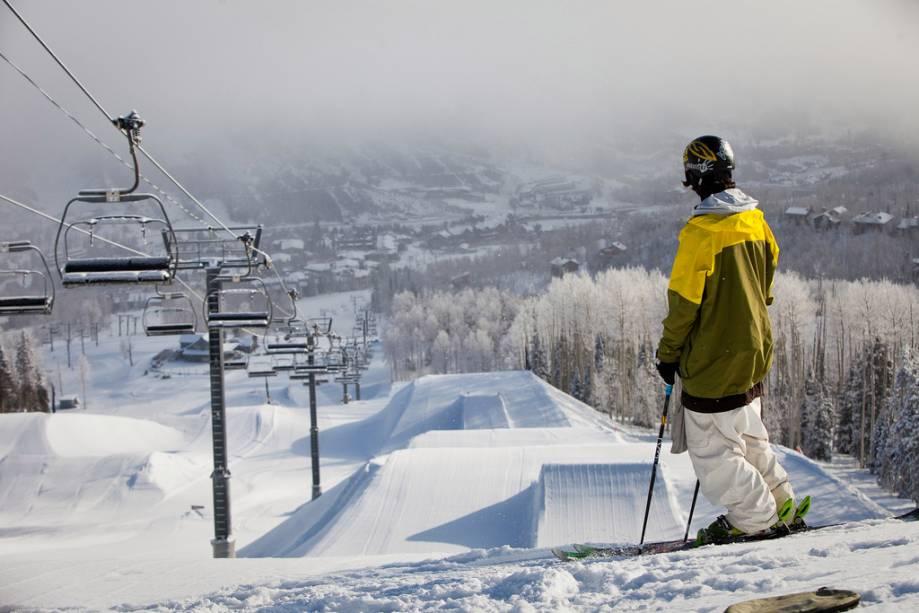 As pistas de esqui são a marca registrada do resort