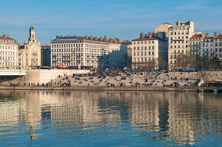 Bancos do Ródano em Lyon