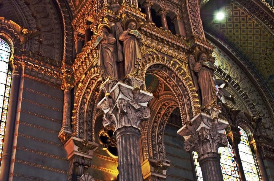 Detalhe da catedral de Lyon