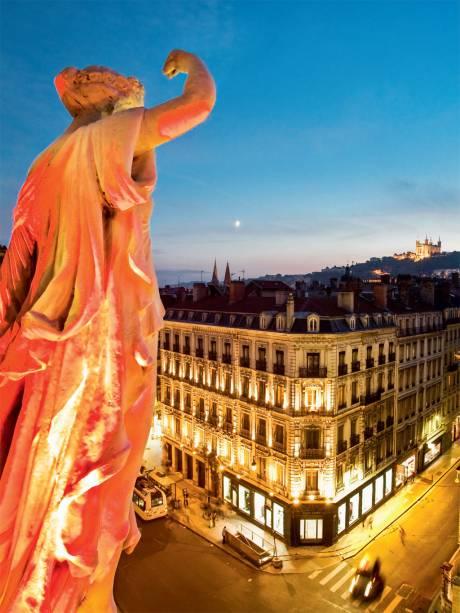 Lyon, outra cidade da luz, vista da Opéra de Lyon