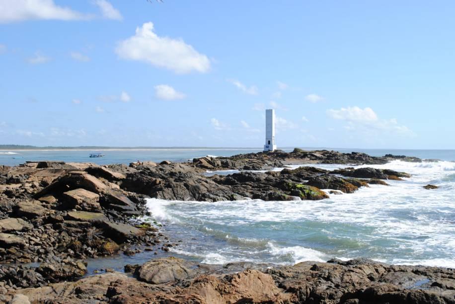 Farol na praia de La Concha