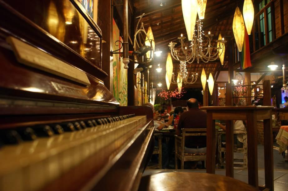 A Pizzaria Boca de Forno no Beco das Flores, um dos lugares mais badalados da cidade
