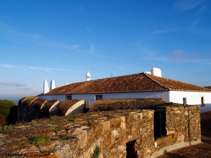 O castelo de Vila Viçosa nos arredores de Estremoz