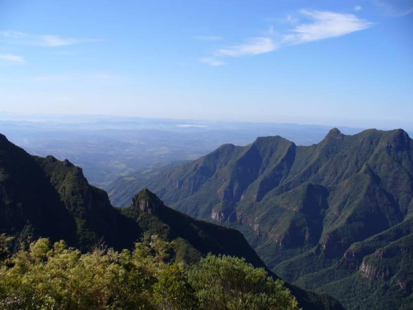 Paisagem da Serra do Rio do Rastro, em Bom Jardim da Serra, Santa Catarina, na área do Eco Resort Rio do Rastro