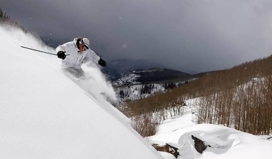A área de esqui de Vail, Colorado é uma das mais antigas dos Estados Unidos