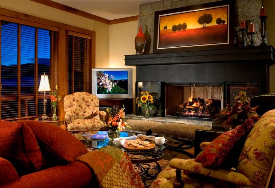 Interior do Beaver Creek Hummingbird Lodge, em Vail