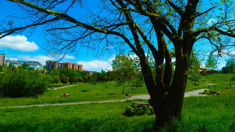 Parque de inverno em Oviedo