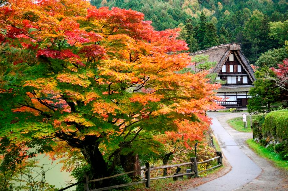 A vila de Hida em Takayama é uma das principais atrações da cidade