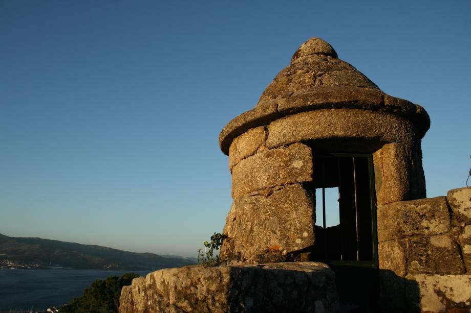 Entrada da fortaleza de El Castro em Vigo