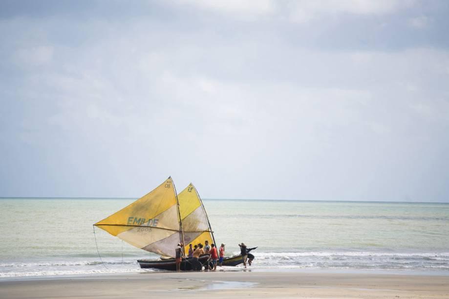 Pescadores na praia de Jericoacoara