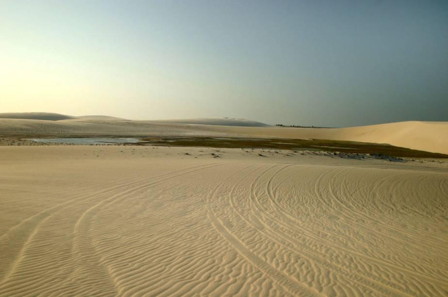 Vista das dunas da praia do Preá