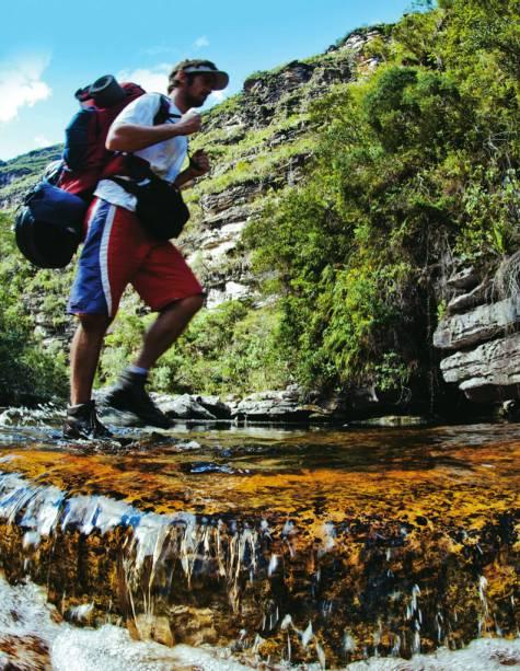 Caminho para a Cachoeira da Fumacinha na Chapada Diamanetina