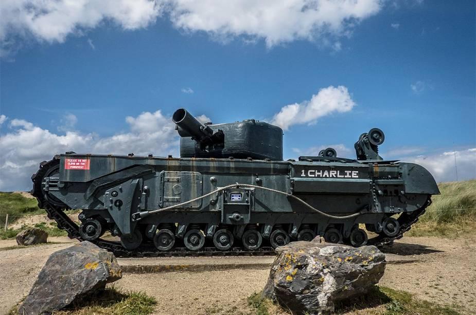 O tanque principal Charlie ajudou as tropas aliadas a avançar em solo francês