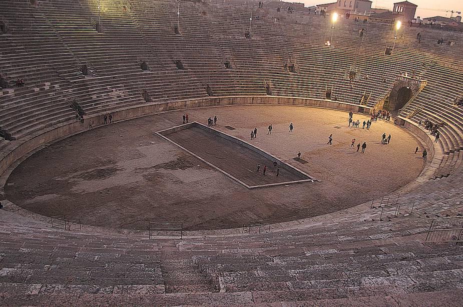 A conservação da estrutura da arena chama a atenção de quem a visita